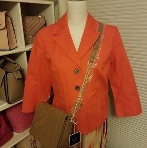 Rafaella Petite, Size 8 Orange Blazer Jacket
